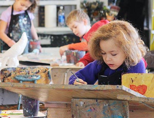 homeschool kids art class)